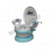توالت فرنگی پلاستیکی کودک مدل سامیا آبی